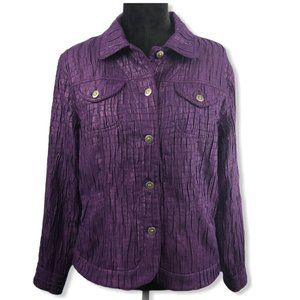 Ruby Rd Button Down Jacket